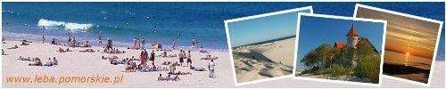 Łeba, tanie noclegi, pokoje gościnne. Łeba kwatery prywatne, wakacje i wczasy nad morzem